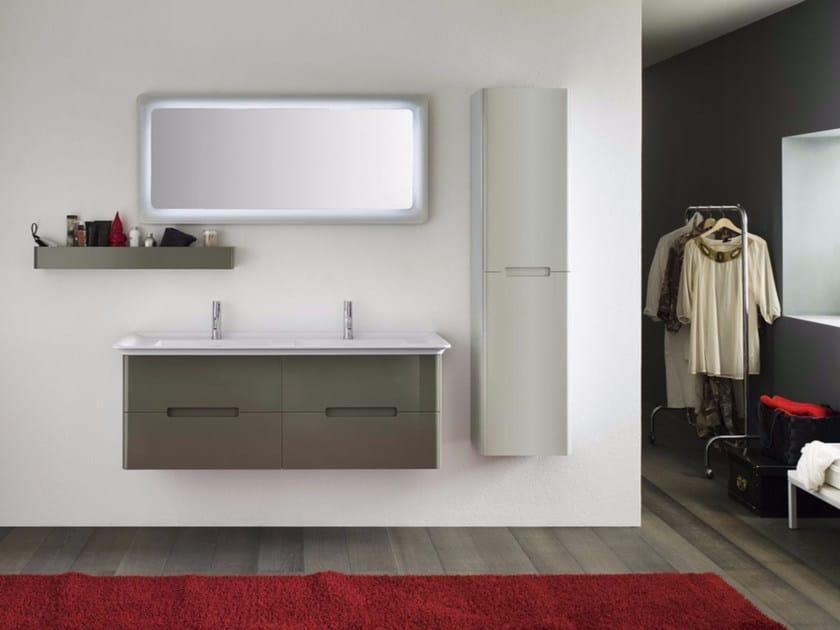 Laminate bathroom cabinet / vanity unit SOFT - Composizione 1 by INDA®