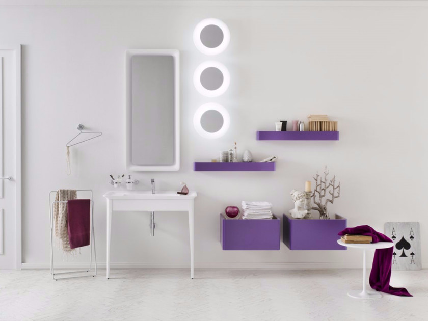 Laminate bathroom cabinet / vanity unit SOFT CONSOLE - Composizione 3 by INDA®