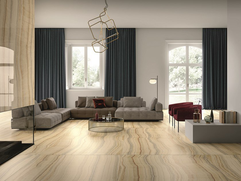 Porcelain Stoneware Wallfloor Tiles With Marble Effect Soft Onyx
