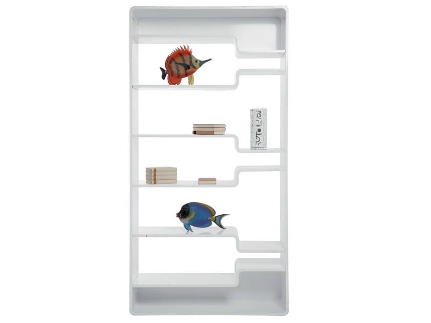 Open lacquered MDF bookcase SOFT SHELF WHITE by KARE-DESIGN