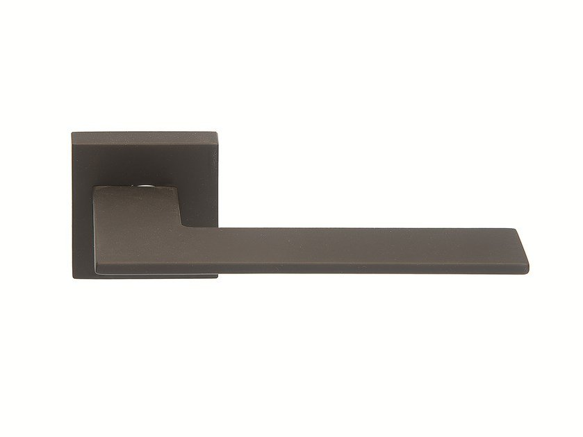 Door handle on rose BLACK SOFT TOUCH by Frascio