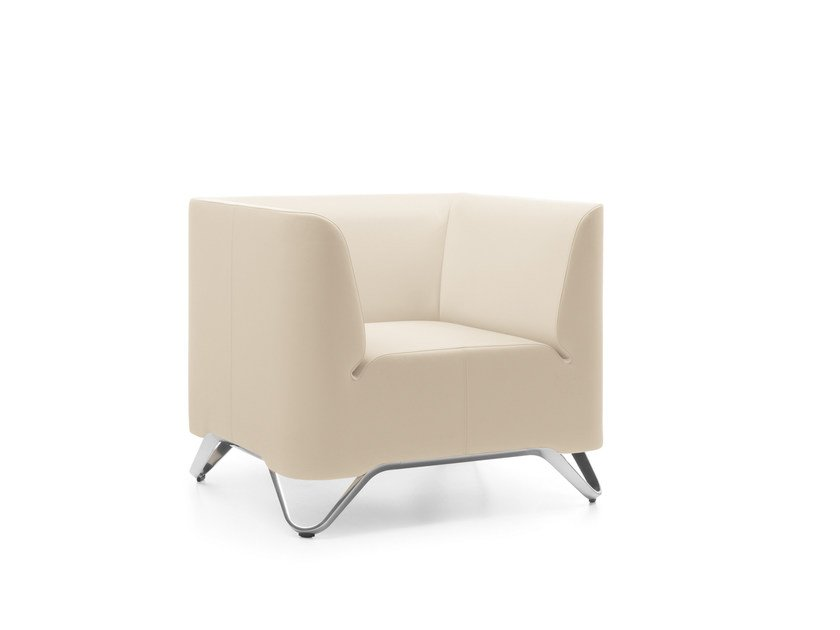 Fabric armchair with armrests SOFTBOX 11 by profim