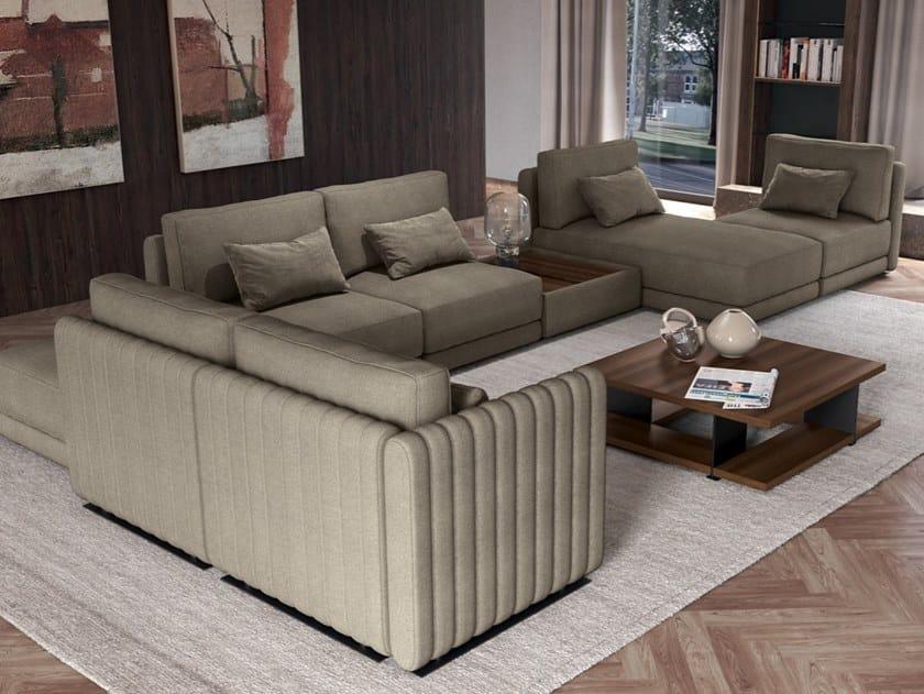 Divano componibile in tessuto con chaise longue SOFTCASE 02 by Febal Casa