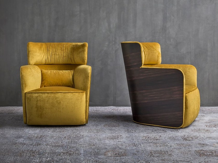 High-back fabric armchair SOFTWING | High-back armchair by Flou