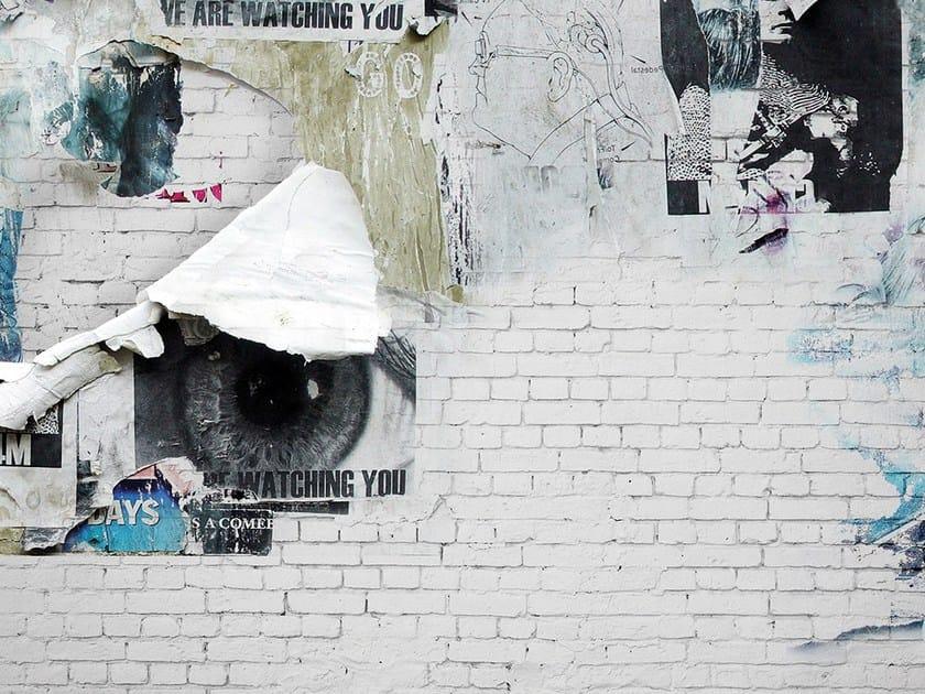 Brick effect wallpaper SOHO by Adriani e Rossi edizioni