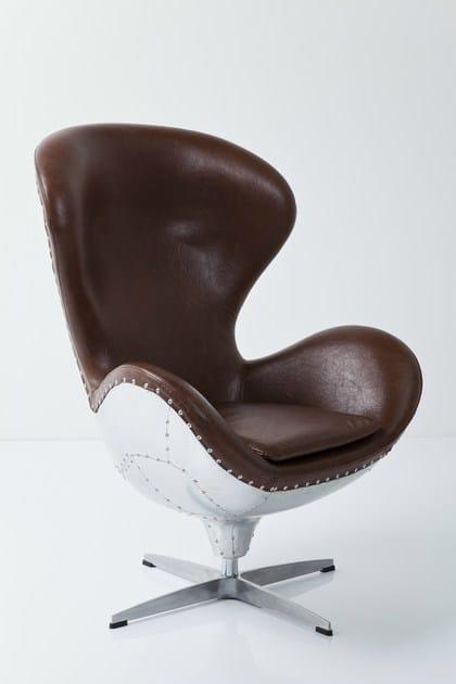 Drehbarer 4 Speichen Sessel Aus Leder Mit Armlehnen Soho Big Boss