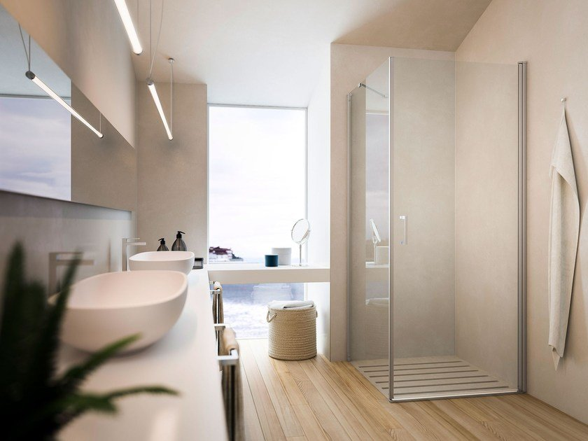 Shower cabin with pivot door SOHO MW+ML by Glass1989