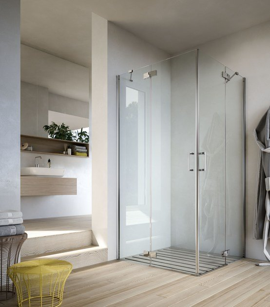 Shower cabin with hinged door SOHO MC by Glass1989