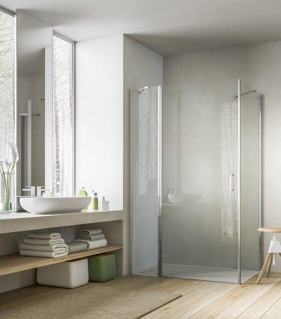 Box doccia con porta pivotante SOHO QD+QL by Glass1989