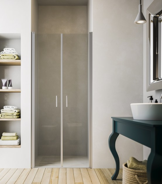 Niche shower cabin with hinged door SOHO MG by Glass1989
