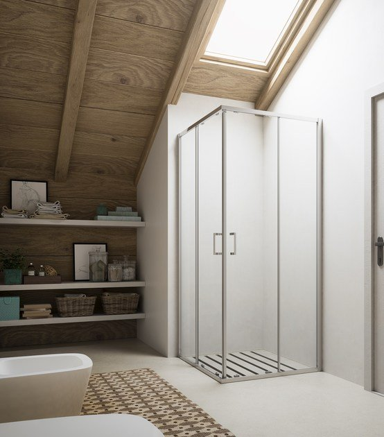 Shower cabin with sliding door SOHO MX by Glass1989
