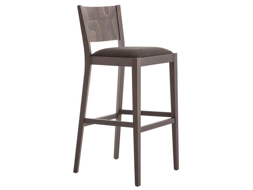 High beech stool SOKO 472D.i1 by Palma