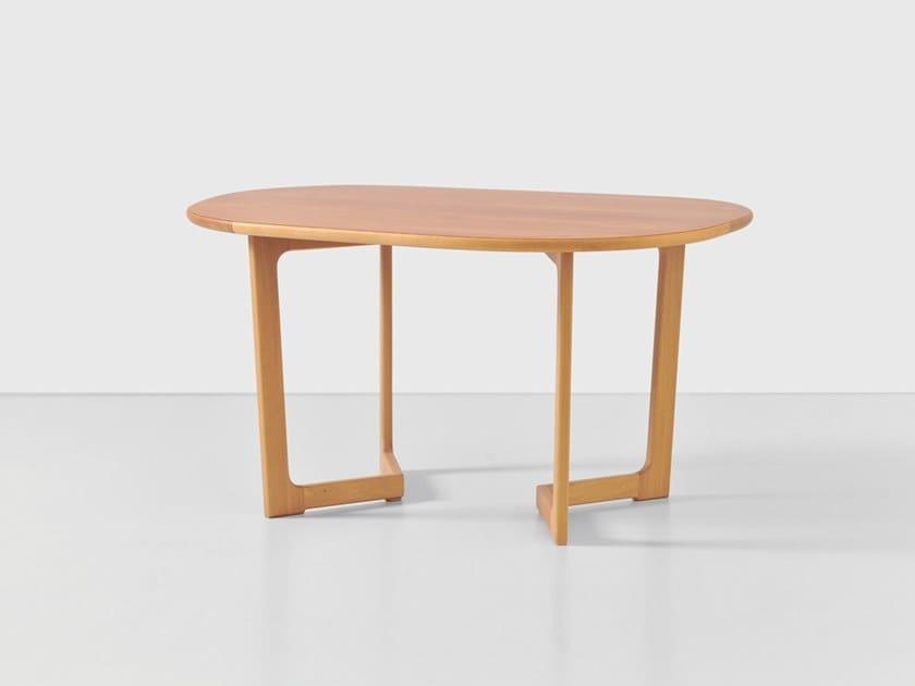 Oval wood veneer coffee table SOL by Hemonides