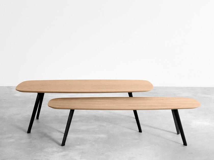 Rectangular oak coffee table SOLAPA   Oak coffee table by STUA