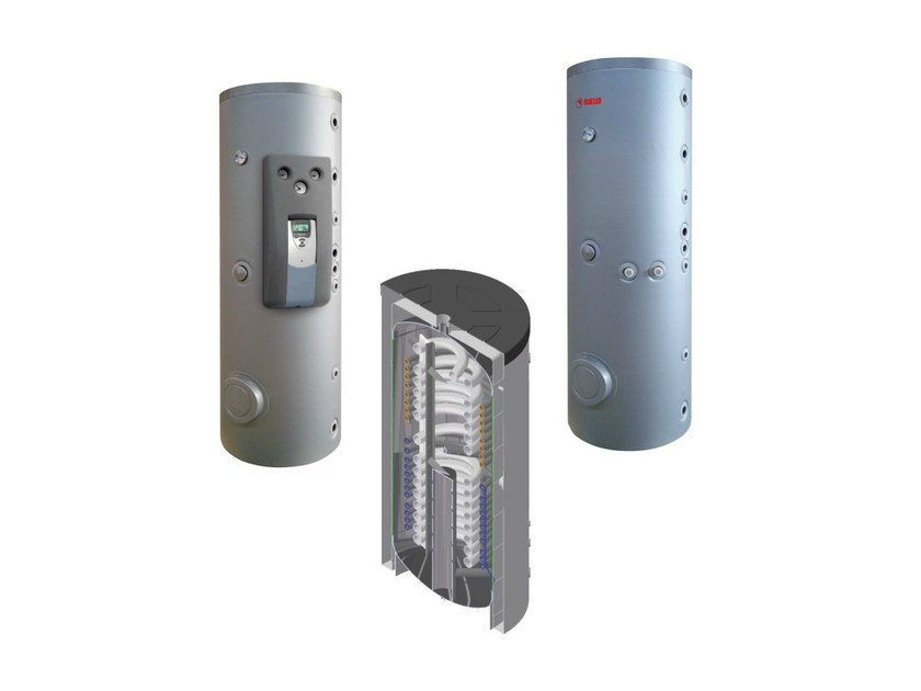 Forced circulation Solar heating system Water system by RIELLO
