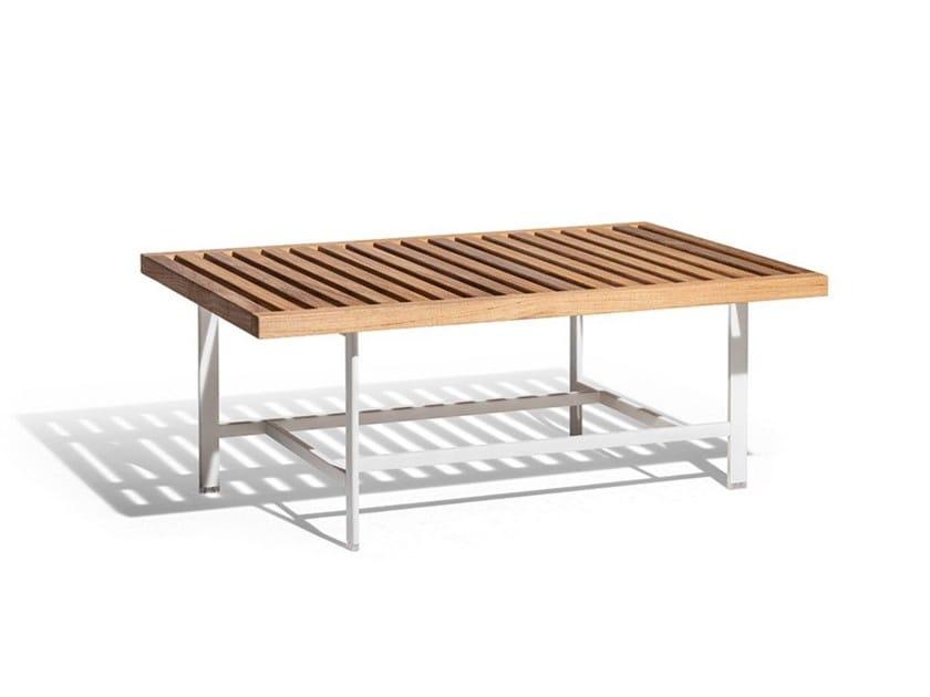 Rectangular teak garden side table SOLARIA | Coffee table by Poltrona Frau