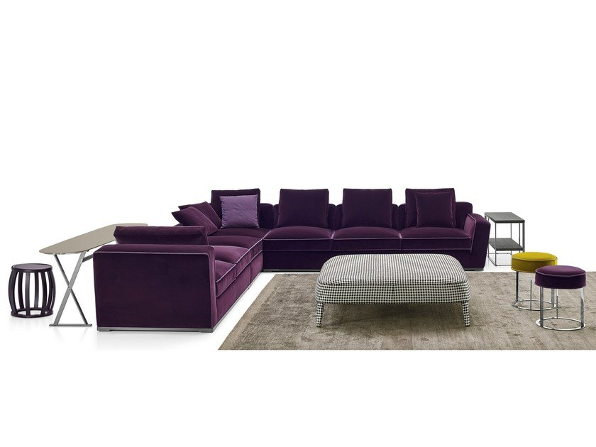 Corner sectional fabric sofa SOLATIUM | Corner sofa by Maxalto