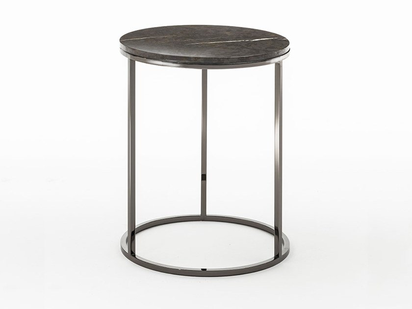 Marble side table SOLFERINO | Round coffee table by OAK