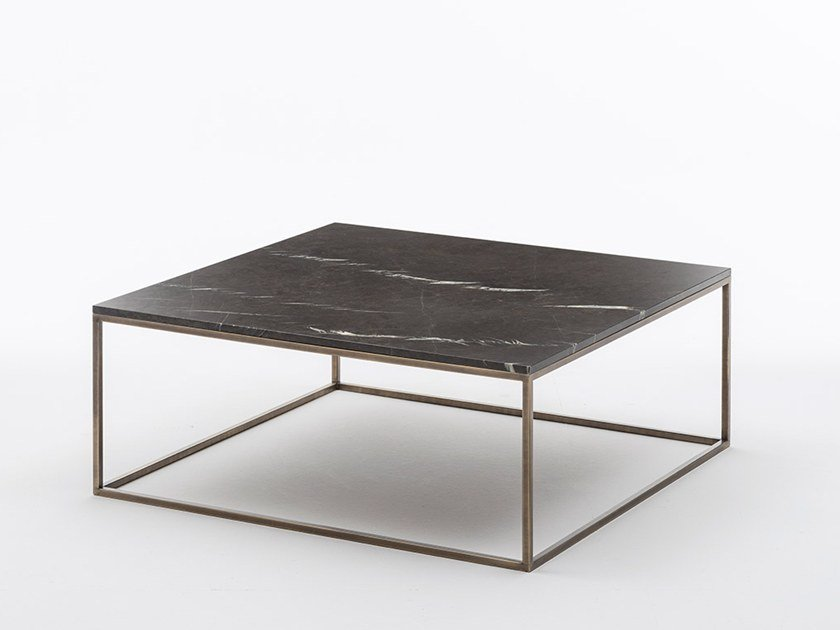 Low marble coffee table SOLFERINO | Square coffee table by OAK