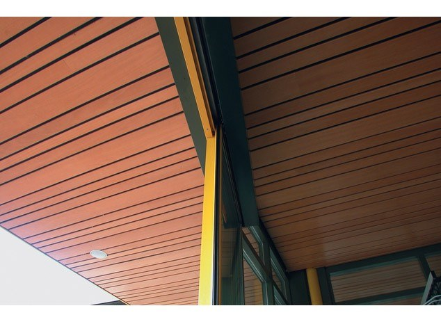 Solid wood ceiling tiles SOLID WOOD EXTERIOR CEILING by HunterDouglas Architectural