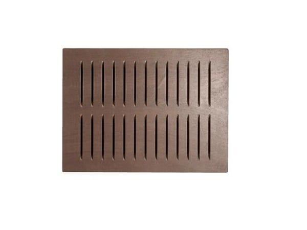 Pedana doccia in legno ecotech grigio cm linea bagno