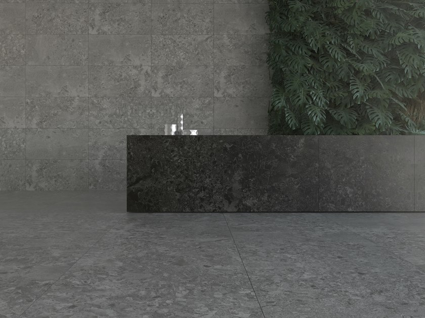 Porcelain stoneware wall/floor tiles with stone effect SOLTO 4D by Museum