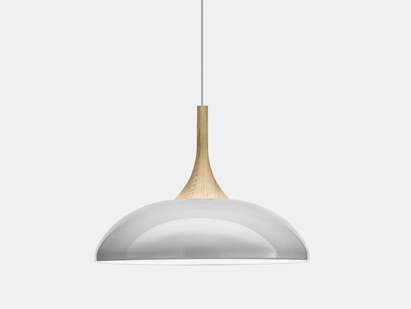 Painted metal pendant lamp SOMBRERO S2 by Il Fanale