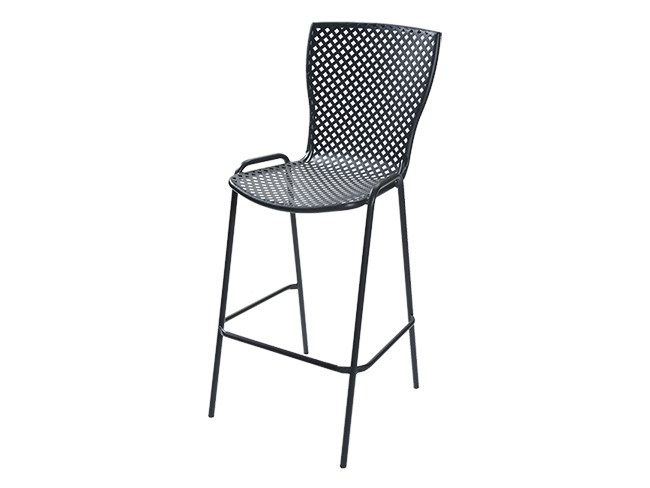 Stackable galvanized steel stool SONIA 75 by RD Italia