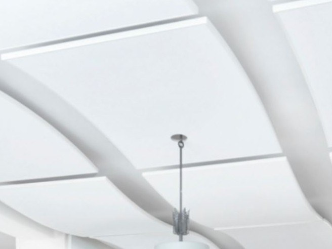 Acoustic ceiling clouds SONIC ARC by Knauf Italia
