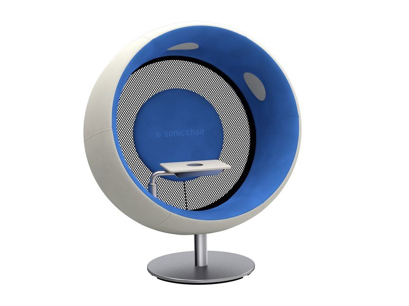 Acoustic armchair with hub table SONIC CHAIR by sonic chair