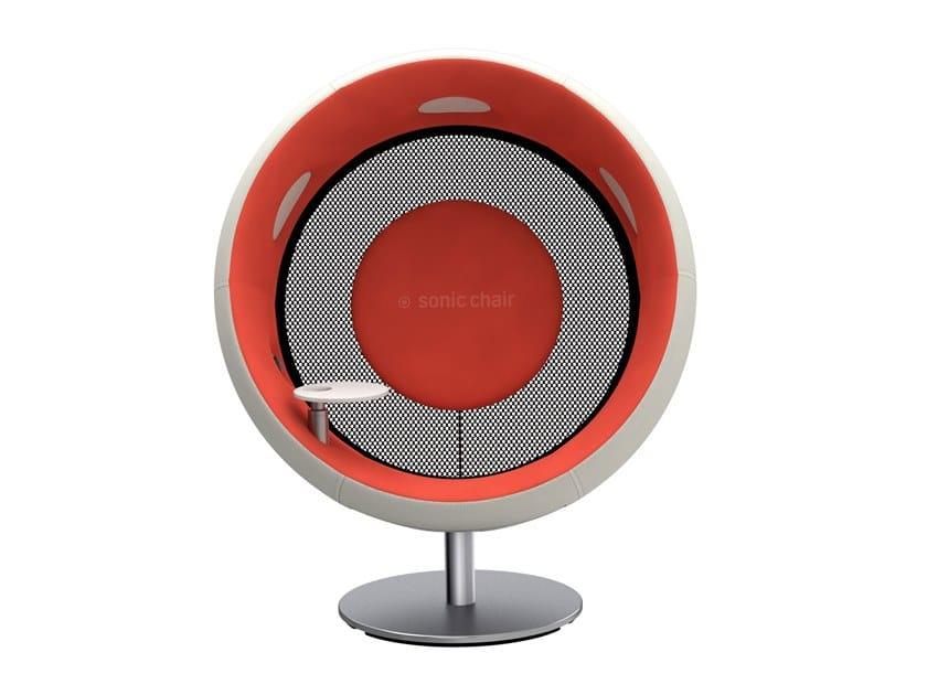 Poltrona acustica con tavolino rotondo SONIC CHAIR by sonic chair