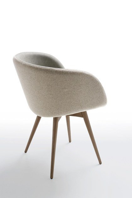 Upholstered easy chair SONNY P-LG | Fabric lounge chair by Midj
