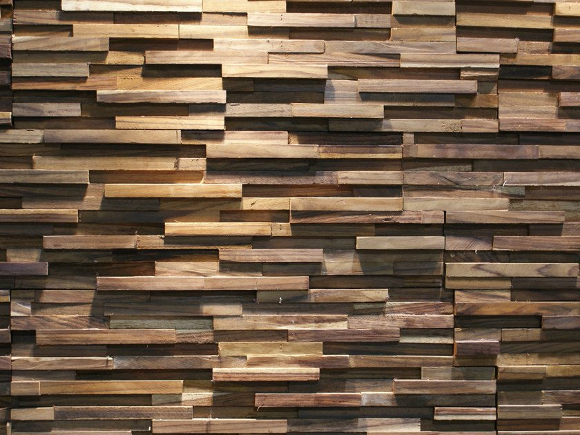Reclaimed wood 3D Wall Tile SONOKELING by Teakyourwall