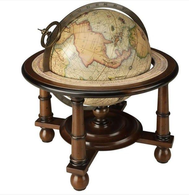 Mappamondo con basamento in legno NAVIGATOR by Caroti