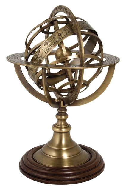 Paper weight with armillary sphere FERMACARTE by Caroti