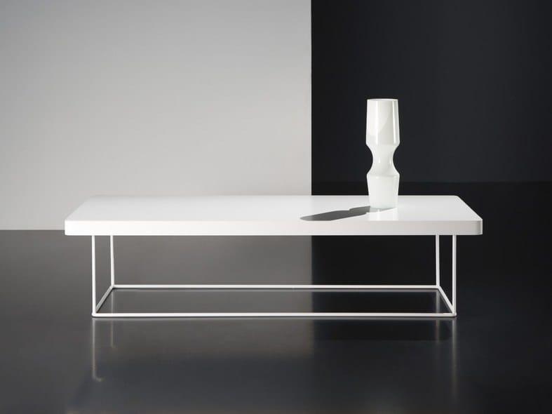 Tavolino laccato rettangolare in mdf soro kendo mobiliario