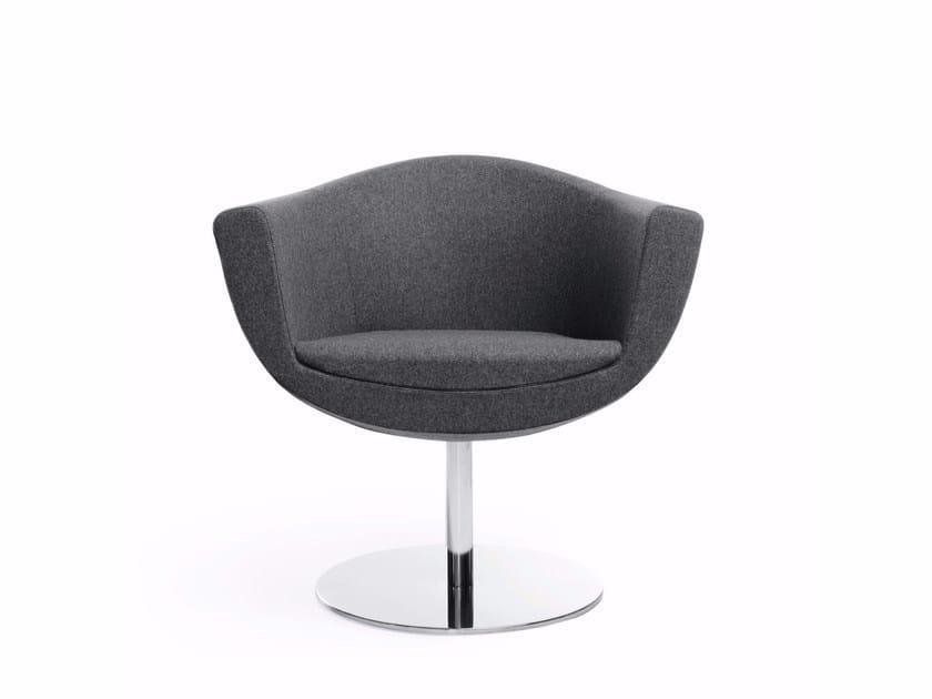 Petit fauteuil pivotant en tissu avec accoudoirs SORRISO 10R