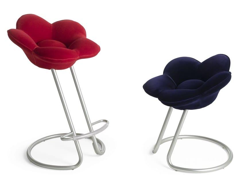 Cantilever velvet stool SOSHUN by edra