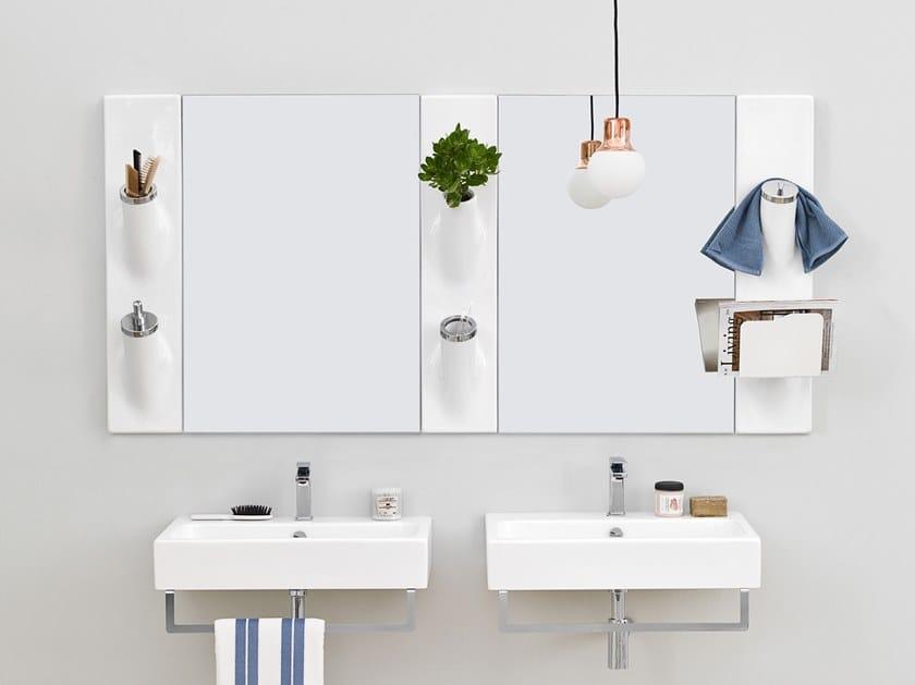 Liquid soap dispenser / toothbrush holder SOTTO SOPRA by Artceram