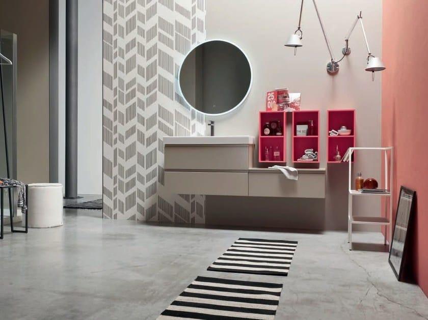Sistema bagno componibile SOUL - COMPOSIZIONE 06 by Arcom