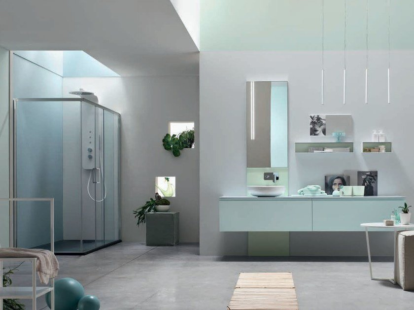 Lacquered single vanity unit SOUL - COMPOSITION 10 by Arcom
