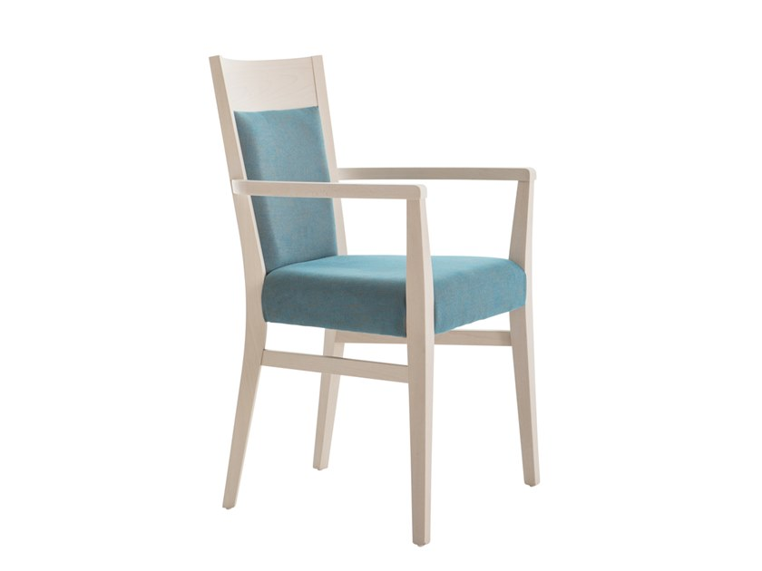 Upholstered beech chair with armrests SOUL SOFT 472EP.i4 by Palma