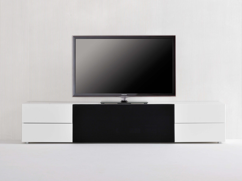 Low modular TV cabinet SOUND SYSTEM | TV cabinet with drawers by Silenia