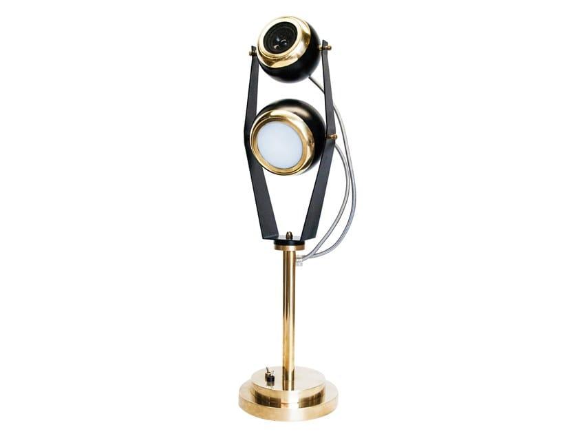 Orientabile Il Tavolo Lampada 02 Da A Led Soundlight Bronzetto hrdCotsQBx