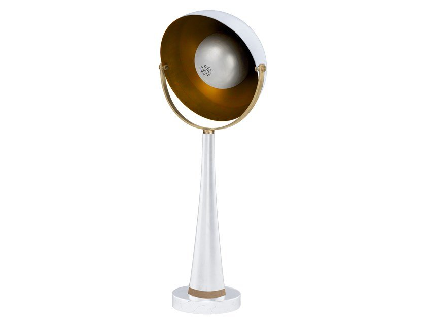 LED brass table lamp SOUNDLIGHT 03 by Il Bronzetto