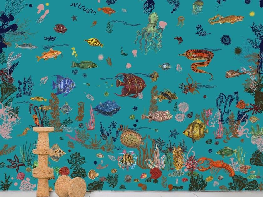 Wallpaper SOUS LA MER - BLUE by Moustache