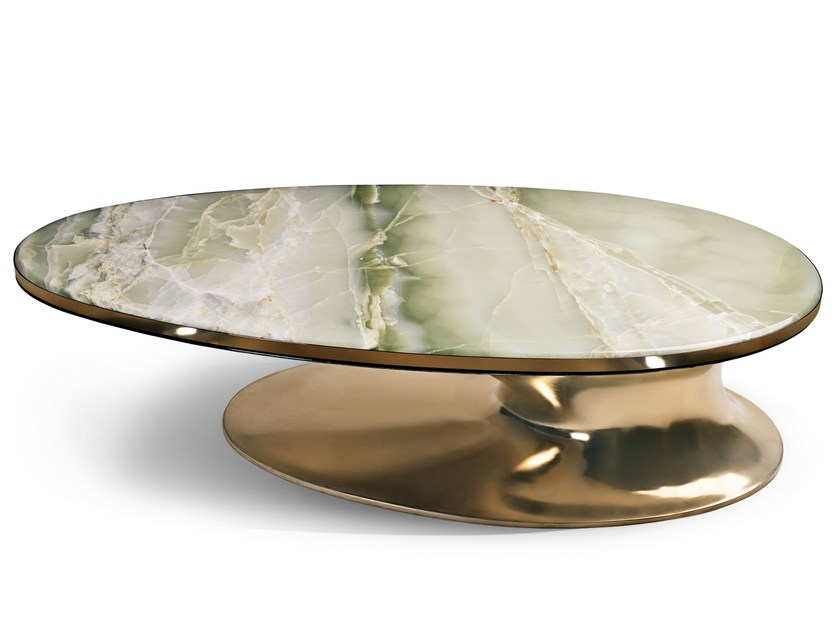 Oval marble coffee table SOWILO by Visionnaire