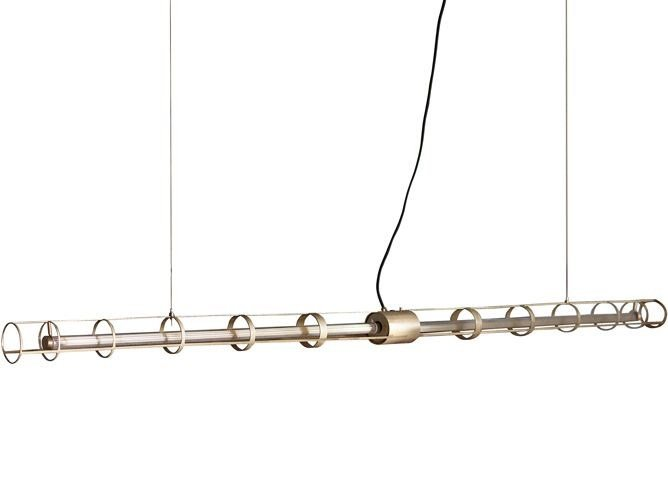 Lampada a sospensione a LED in ottone SPACE by BAXTER