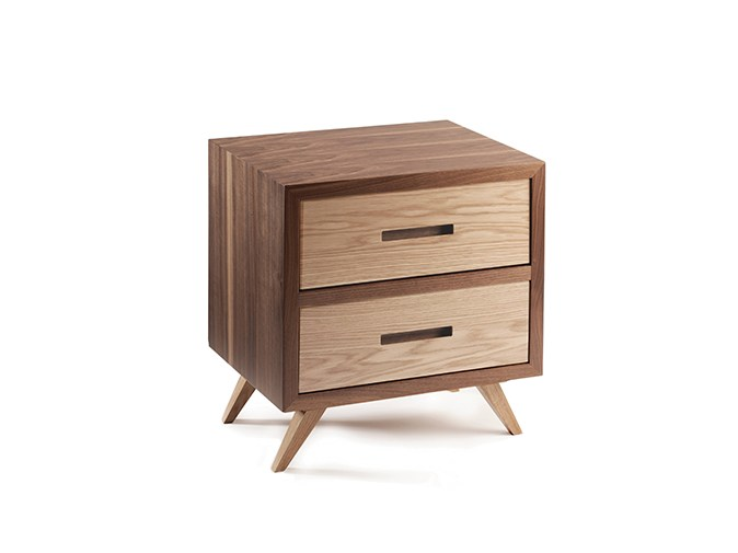 Rectangular Wooden Bedside Table With Drawers SPACE | Bedside Table By  Mambo Unlimited Ideas