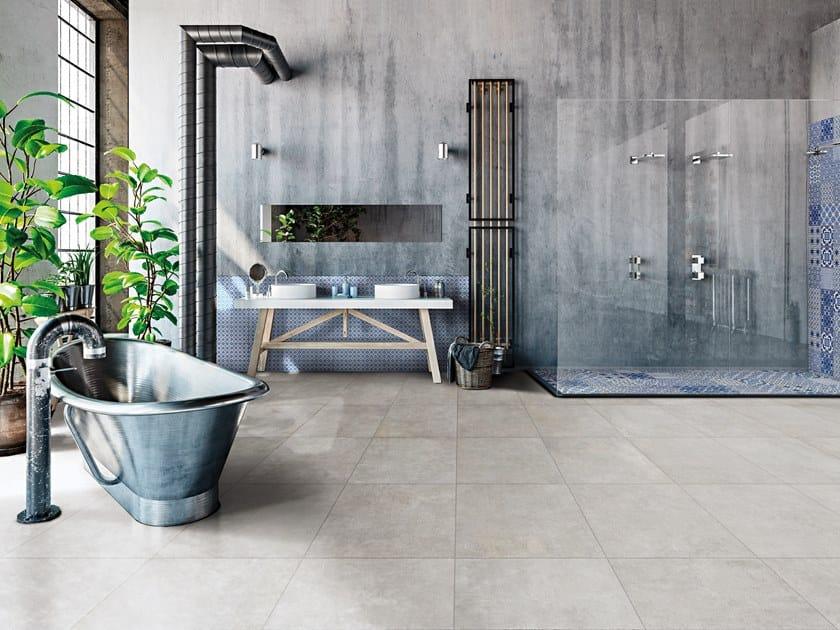 Pavimento/rivestimento in gres porcellanato per interni ed esterni SPACE CEMENT by La Fabbrica